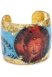 "EVOCATEUR ""Shangri-La"" Buddha Blue Cuff-Bracelet"