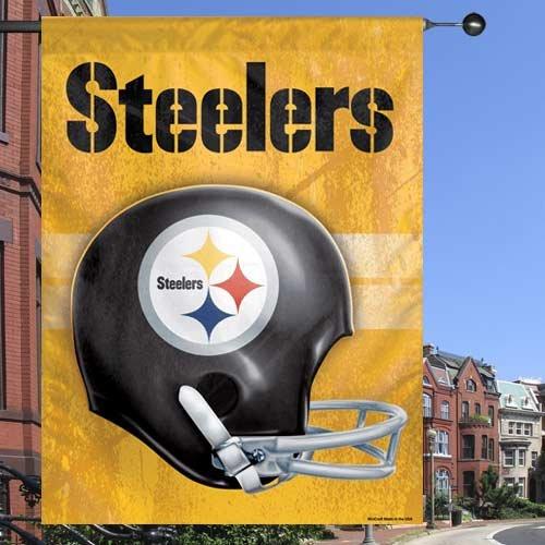 """Pittsburgh Steelers 27"""" x 37"""" Throwback Helmet Vertical Bann"""