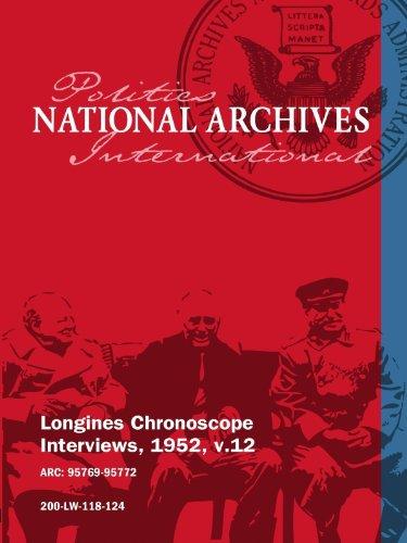 Longines Chronoscope Interviews, 1952, v.12: LOUIS V. SUTTON, FRANK C. PACE JR. movie