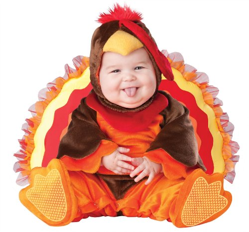 InCharacter Costumes Baby's Lil' Gobbler Turkey Costume, Brown/Orange , Large