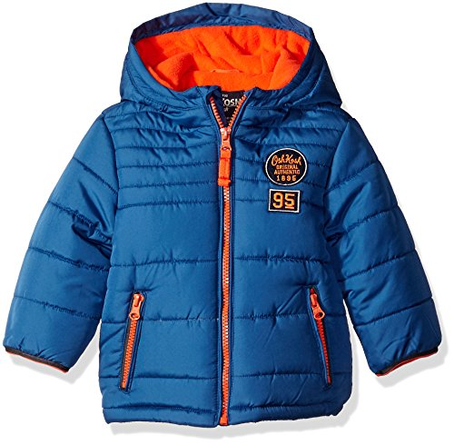Osh Kosh Boys' Infant Classic Heavyweight Solid Puffer Coat, Blue, 24 Months
