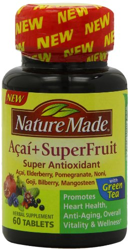 Nature Made, Acai+Superfruit with Green Tea, Tablets, 60-Count