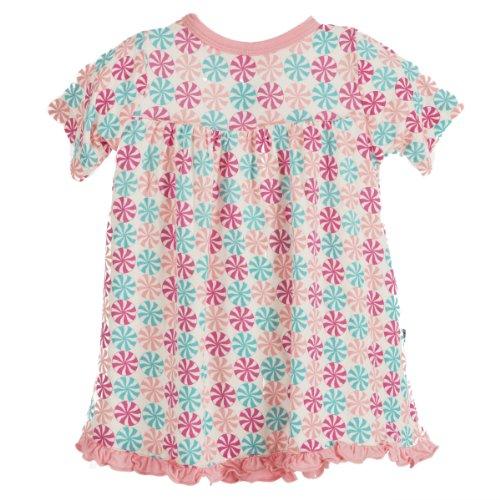 Kickee Pants Baby-Girls Infant Print Short Sleeve Swing Dress, Girl Candy Print, Preemie front-315913