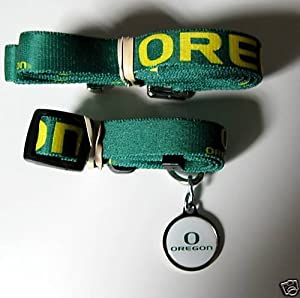 Oregon University Ducks Dog Pet Set Leash Collar ID Tag XS by Hunter