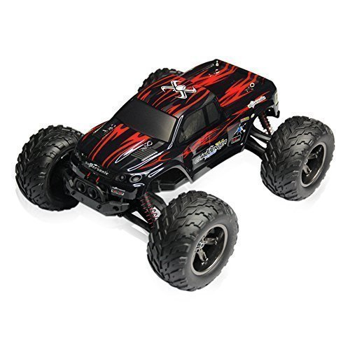 RC CARS 30MPH 1/12 Scale RTR Remote control Brushed Monster RC Vehicle Truck Off road Car Big Foot 2WD W/2.4G-Red
