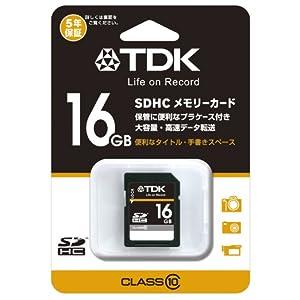 【クリックで詳細表示】TDK SDHCカード 16GB Class10 (5年保証) T-SDHC16GB10