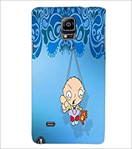 PrintDhaba Cartoon D-5868 Back Case Cover for SAMSUNG GALAXY NOTE 2 (Multi-Coloured)