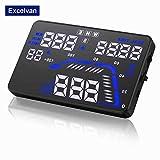 Excelvan GPSヘッドアップディスプレイ(HUD) 動車の速度表示 速度警報装置 温度表示 水温 バッテリ電圧