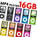"""16GB 4th Generation nano-style MP4/MP3 Player with 1.8"""" Screen, FM Radio & 30 pin iPod Dock Connector - (NOT iPod, does NOT support iTunes)"""