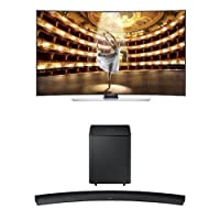 Samsung UN55HU9000 Curved 55-Inch TV with HW-H7500 Curved Soundbar