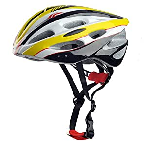 Skyrocket Yellow Cycle Mountain Bike Helmet 54-60cm Adjustable with Visor