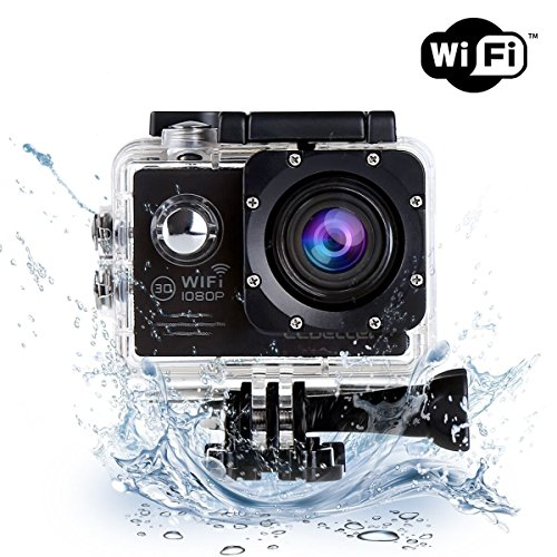 CCbetter WIFI搭載アクションカメラ スポーツカメラ  14MP 1080P フルHD 1200万画素 30m防水 170度広角レンズ 2インチ液晶画面 バイクや自転車/カート/車に取り付け可能アウトドアスポーツや空撮に最適 複数のアクセサリー 付き