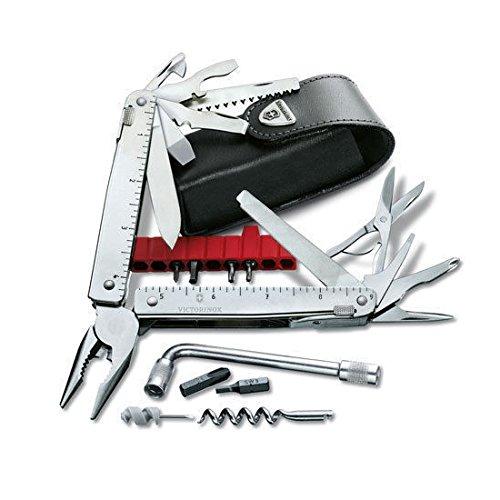 Victorinox Swiss Army Knife, Swisstool CS Plus W-Black Leather Pouch 53946, NIB (Swiss Tool Cs compare prices)