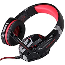 buy 3.5Mm Gaming Headset With Microphone, Turnraise Each G9000 Over Ear Gaming Headphones W/ 3.5Mm Audio Jack For Pc Laptop Notebook Tablet Smart Phones (Red)