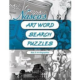Nasco 9722004 Art Word Search Reproducible Puzzles Book 3-Art Biographies