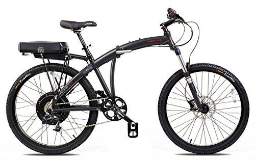 Prodecotech V4.0 Phantom X2 36V 500W 8 Speed 12Ah Li Ion Electric Bicycle, Matte Black, 26-Inch/One Size