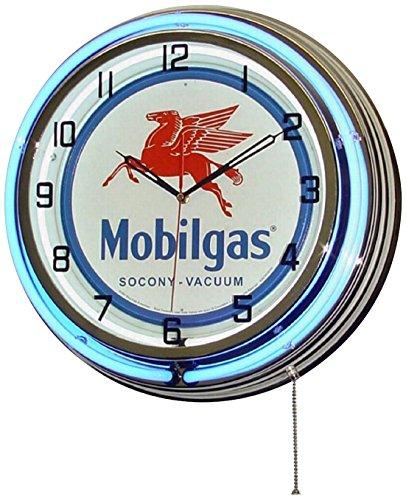 Mobilgas Neon Wall Clock