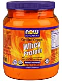 Now Foods Organic Whey Protein, Natural Unflavored 1 Pound