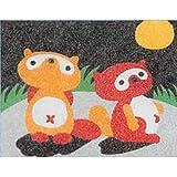 カラーサンド すな絵キット ポンポコたぬき B01-1995