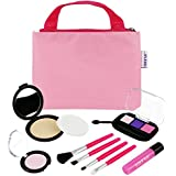 Click N Play Pretend Play Cosmetic And Makeup Set With Pink Tote Bag