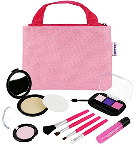 Click-N-Play-Pretend-Play-Cosmetic-and-Makeup-Set-with-Pink-Tote-Bag