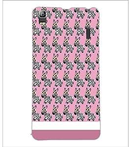 PrintDhaba Zebra Pattern D-1310 Back Case Cover for LENOVO A7000 PLUS (Multi-Coloured)