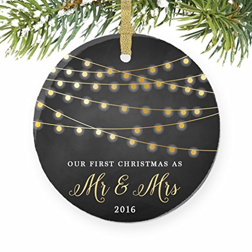 First Christmas as Mr & Mrs Ornament 2016, 1st Married Christmas Ornament, First Married Christmas, 3