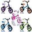 Draisienne enfant - v�lo de marche sans pedale Bicycle de balance, couleur orange - bleu
