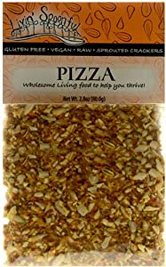 Raw Sprouted Crackers, Pizza, 2.8 Oz, (2-pack)