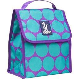 Wildkin Olive Kids Mermaids Munch n Lunch Bag,One Size,Big Dot Aqua