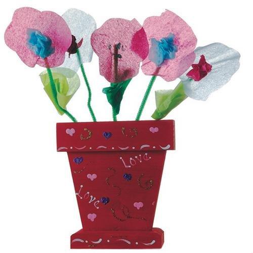 S&S Worldwide Wood Flower Pot Craft Kit (Makes 12)