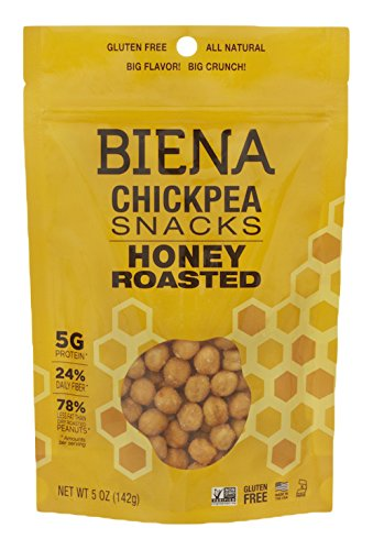 Biena Chickpea Snacks, Honey Roasted, 5 Ounce (Chick Peas Roasted compare prices)