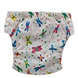 Ohbabyka Baby Training Pants Washable Reusable Nappy Diaper,Colorful Butterfly