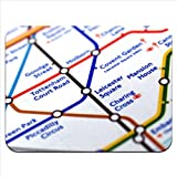 Close Up Tube Map Leicester Square, London Premium Quality Thick Rubber Mouse Mat Pad Soft Comfort Feel Finish