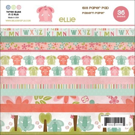 3 Bugs In A Rug ELL950 Ellie Paper Pad 6 in. x 6 in. 36-Sheets