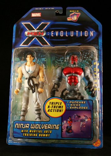 Buy Low Price Toy Biz NINJA WOLVERINE w/ Martial Arts Training Dummy X-MEN: EVOLUTIONS FORCE Action Figure (B0041IUE7Q)