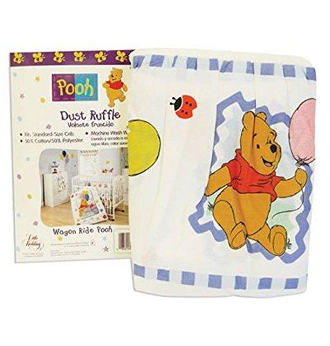 Pooh Baby Crib Dust Ruffle Wagon Ride Design (Classic Pooh Crib Bedding compare prices)