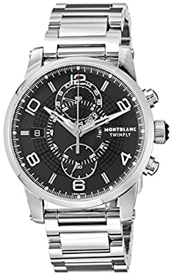 [Mont Blanc] Men's MONTBLANC watch TIMEWALKER Black Dial Automatic Chronograph 104286 [parallel import goods]