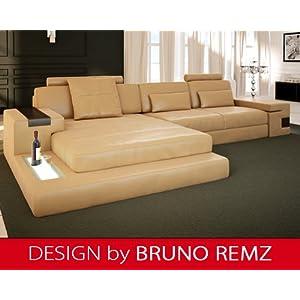 g nstig bruno remz augsburg sm ledersofa sofa couch. Black Bedroom Furniture Sets. Home Design Ideas