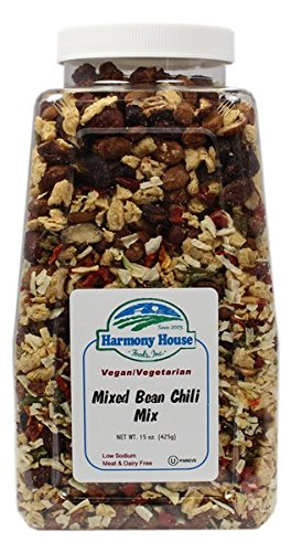 Harmony House Foods Soup Mix, Mixed Bean Chili, 15 Ounce Quart Size Jar (Chili Dry compare prices)