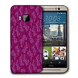 Snoogg Light Butterfly Pink Pattern Printed Protective Phone Back Case Cover For HTC One M9