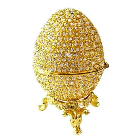 Faberge Egg Box with Ring Insert 24K Gold $63.95