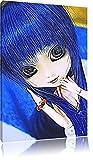 élégante poupée Pullip aux cheveux bleus NewArt Format: 60x40 cm sur toile, énorme XX