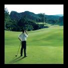 Golfer using Coolshot Rangefinder