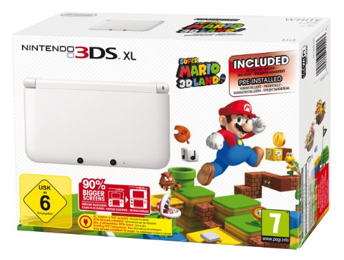 Nintendo 3DS XL - Konsole, wei&#223; + Super Mario 3D Land (vorinstalliert) - Limitierte Edition, Nintendo 3DS