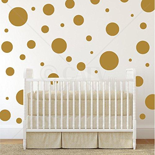 assorted-vinyl-polka-dots-circle-wall-decals-vinyl-stickers-nursery-decor-gold-set-of-32