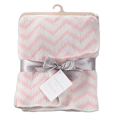 Living Textiles Chevron Blanket, Pink - 1