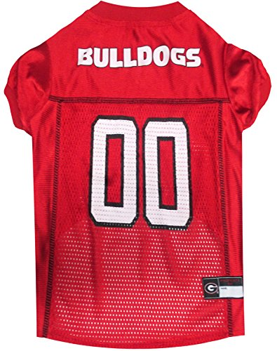 Pets First Collegiate Georgia Bulldogs Dog Mesh Jersey, Large (Bulldog Pet Clothing compare prices)
