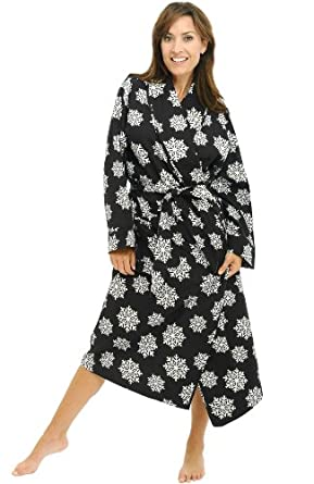 9022c5297df4e Alexander Del Rossa Women s Cotton Print Flannel Bathrobe Robe