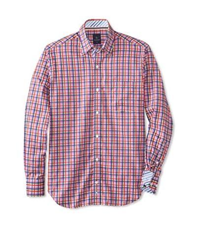 TailorByrd Men's Metropolitan Check Long Sleeve Shirt